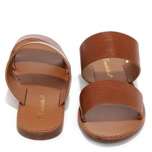 On a Day Trip Tan Slide Sandals